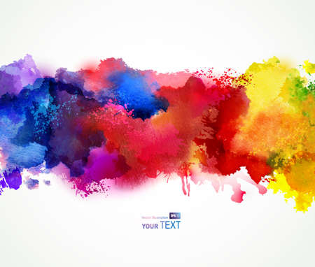 Bright watercolor stains  Illustration