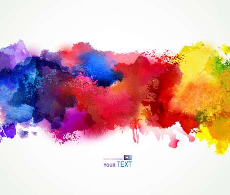 paint background: Manchas de acuarela brillante