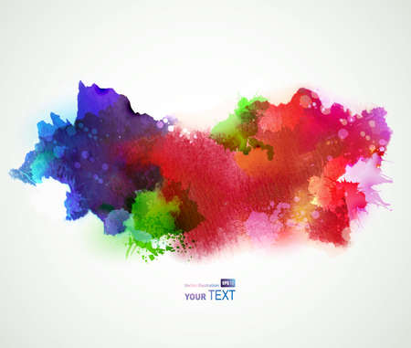 paint: Bright watercolor stains  Illustration