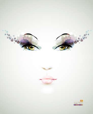 eyes: das junge Gesicht Illustration