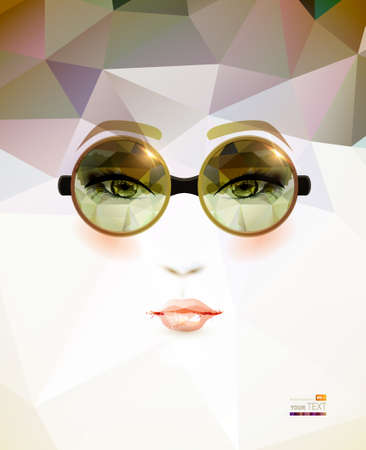 fashion woman with glasses  Vector