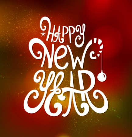 Happy New Year inscription  Vector