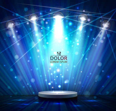 congratulate: spotlight effect scene background