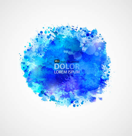 Blue watercolor blot Stock Vector - 25497950