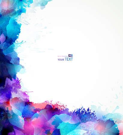 Sfondo astratto blu formano da macchie ed elementi di design Archivio Fotografico - 25498353