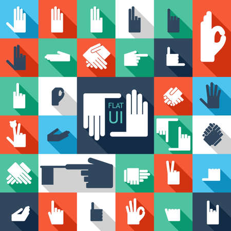 31 hands icon  Flat design   Vector