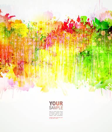 Abstract artistieke krassen Achtergrond van warme kleuren Stock Illustratie