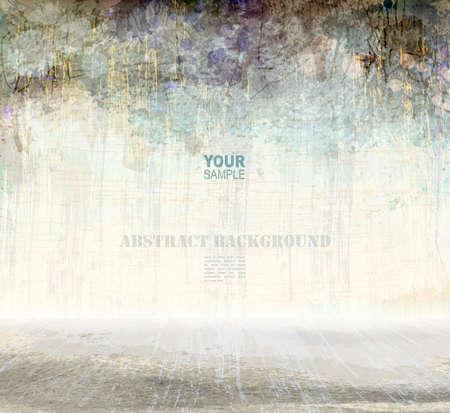 Grunge Kratzer Innen, Vektor-Hintergrund Illustration