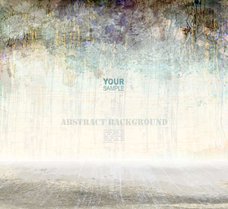 grunge scratching interior, vector background Illustration