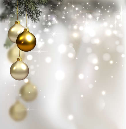 glimmered: glimmered Christmas background with evening balls