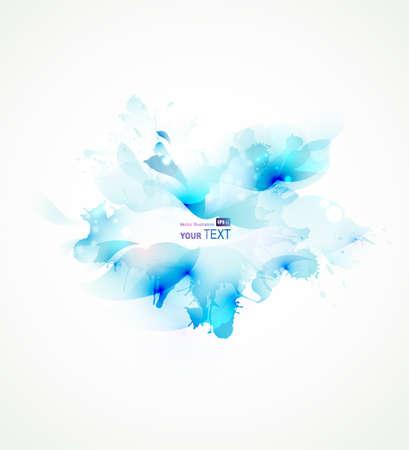 Licht abstracte blauwe enkele bloem Stock Illustratie