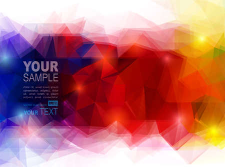 rainbow colors: abstract geometric backgroundwith color blend Illustration