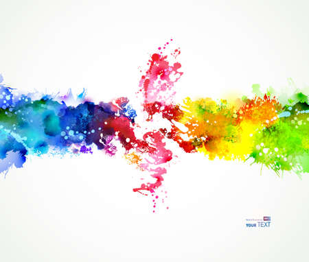Bright watercolor stains. Color composition.