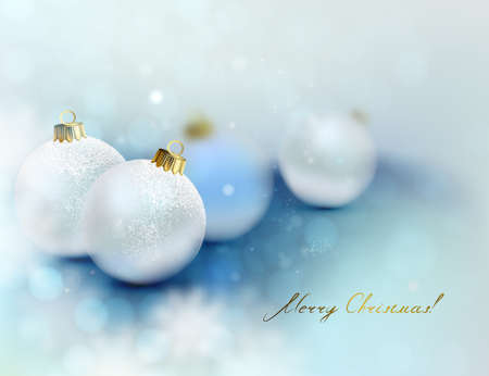 glimmered: Christmas background with Christmas baubles