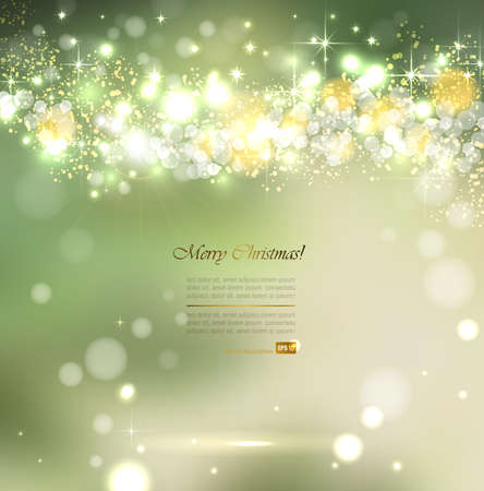 Elegant Christmas green shine background Illustration