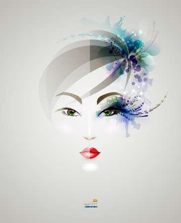 een jonge vrouw gezicht met make-up en zonder