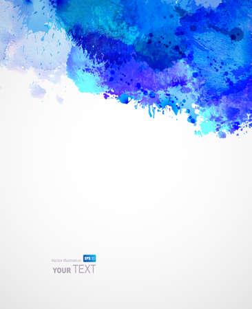 Abstract artistic watercolor blots