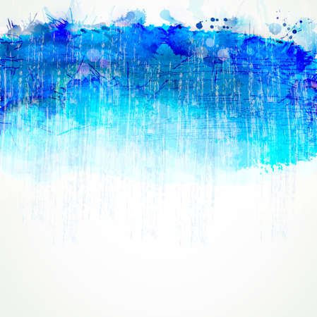 blue watercolor stain. Vector blob