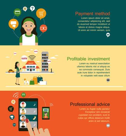 advantageous: Advantageous to make a purchase. Select a payment method. Illustration
