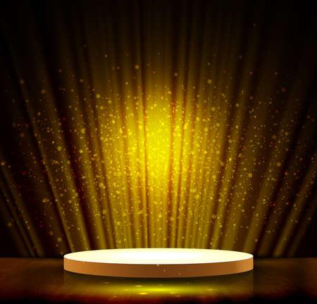 spotlight effect gold scene background Ilustração