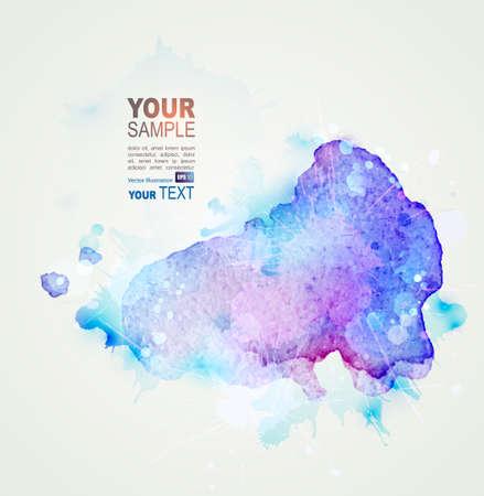 blob: blue watercolor stain. Vector blob