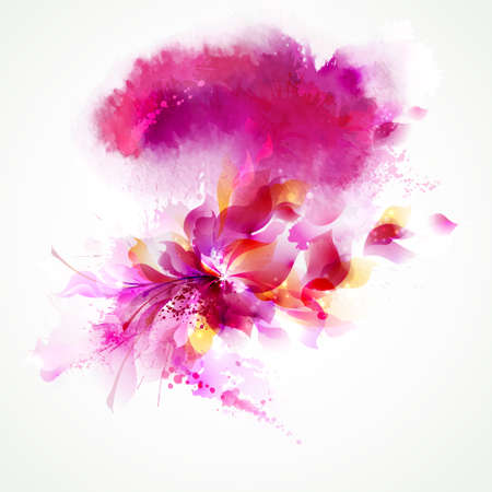 Abstract background with flower and design elements Ilustração