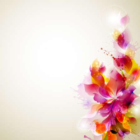 Abstracte achtergrond met bloem en design elementen