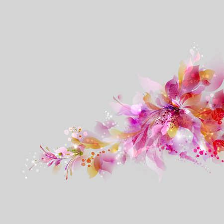 color design: Abstract background with floral and design elements