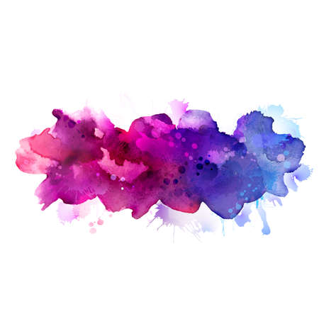splatter: Manchas púrpuras y azules de la acuarela Vectores