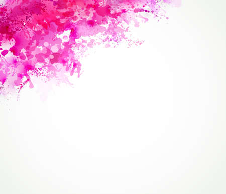 Bright watercolor stains with pink blots Illustration