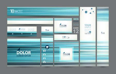 standard size: twelve web banners of standard size Illustration