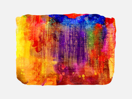 smudges: Bright watercolor stain with colored smudges. Red, violet, orange, blue.