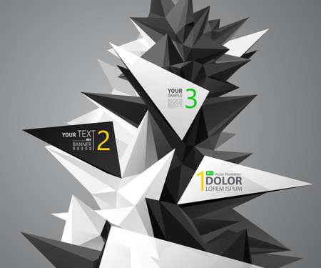 abstracte groep driehoekselementen voor ontwerp met etiket