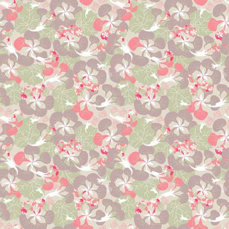 nasturtium: seamless ornament of pink Nasturtium plant