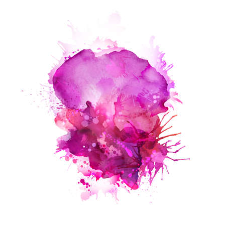 dab: Abstract artistic element forming by watercolor blots