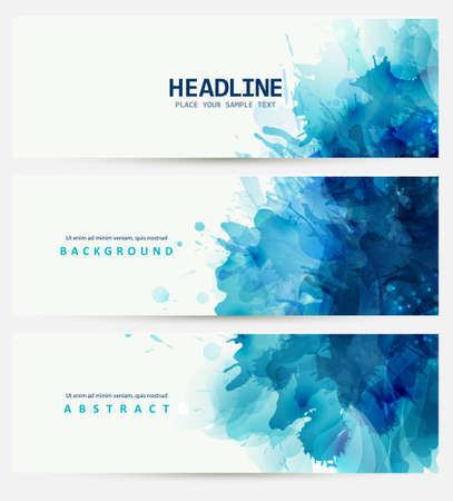 blot: Blue watercolor blot. Beautiful crteative design.