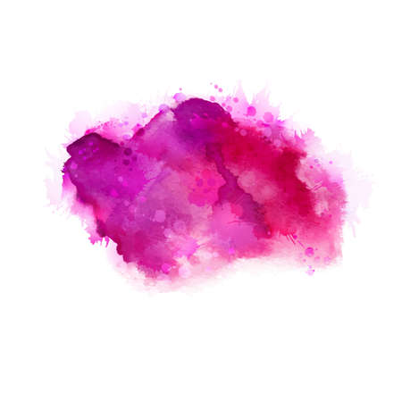 magenta: Geranium, hot pink and magenta watercolor stains. Bright color element for abstract artistic painting background