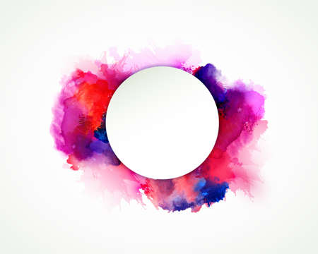 watercolour background: Purple, blue, lilac, orange, magenta and pink watercolor stains. Bright color element for abstract artistic background.