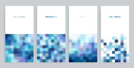 Four banner set with Abstract, geometric backgrounds. Illustration