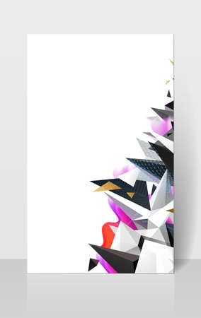 Geometric abstract composision. Modern polygonal triangles and colored shapes for creative background. Illustration