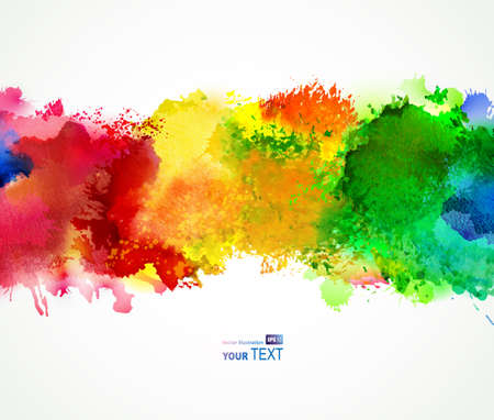 Bright abstract of watercolor stains background for creative design.