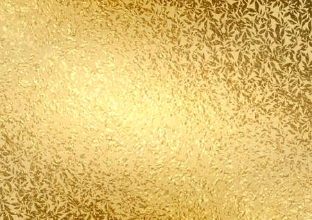 Abstract gold luxury background with bright golden texture leaves. Vintage floral pattern.