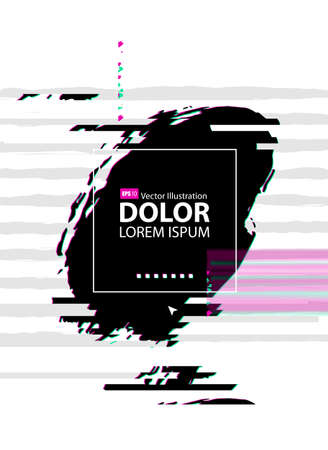 Futuristic abstract background with glitch effect. Modern design composition formed by artistic blots.