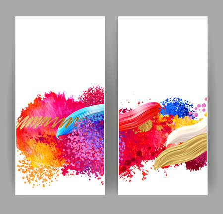 Bright blobs and stains. Watercolor abstract background for creative design.