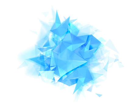 Modern abstract banner with blue color and graphic texture formed by geometric triangles. 向量圖像