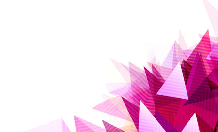 abstract geometric background with light and shadow magenta triangles