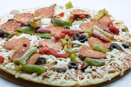 冷凍ピザ 写真素材