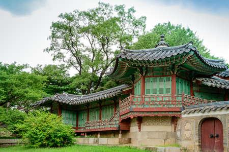 south korea: The building in Changdeokgung Palace, Seoul, South Korea