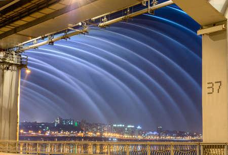 盤浦大橋、ソウル、韓国 写真素材