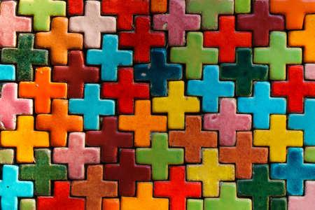 Colorful mosaic tiles 免版税图像
